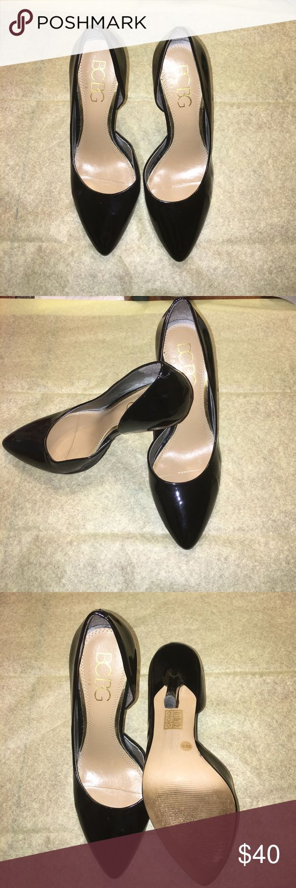 Bcbg patent leather heels Size 8 1/2. Gently used. Black patent leather BCBG Shoes Heels