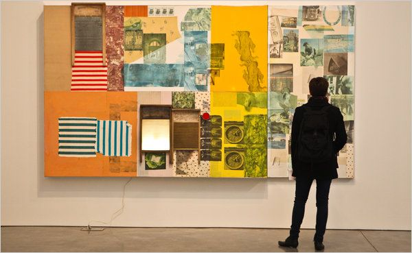 Rauschenburg's new survey show at the Gagosian Gallery in Chelsea