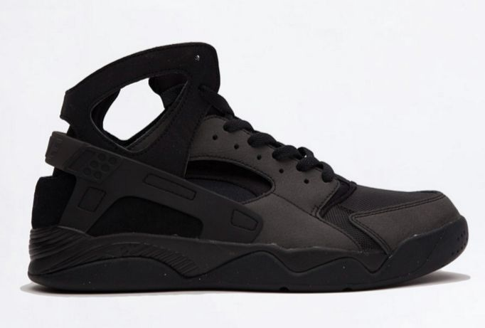 Available now. Nike Air Flight Huarache Triple Black.  http://ift.tt/221l21f