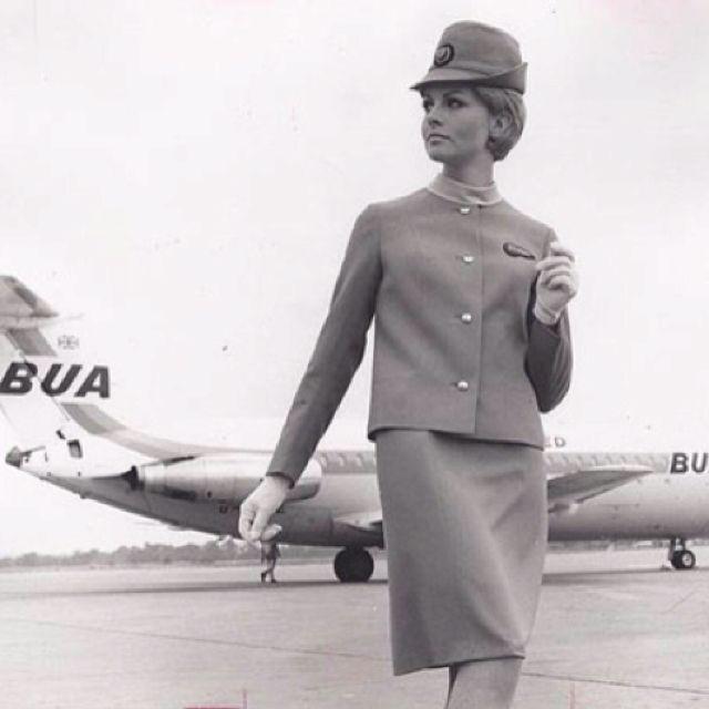 British United Airways Stewardess, 1960