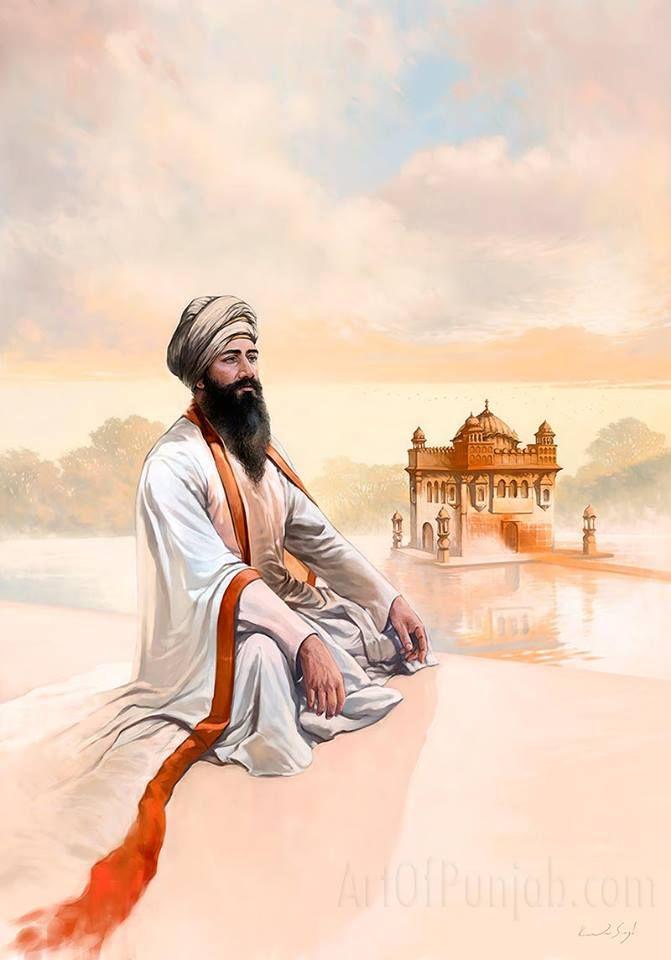 #SikhArt The Protector-Guru Tegh Bahadur The Ninth Master! Kanwar Singh's painting of Guru Tegh Bahadur the Ninth Master was unveiled at his Solo Exhibition for Sikh Heritage Month Ontario. Source- Kanwar Singh ArtofPunjab Share & Spread to appreciate!