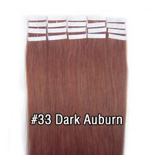 Wholesale PU Skin Weft Tape In Real Human Hair Extensions 16inch #33 20Pcs/Set http://ift.tt/2vTM2XK