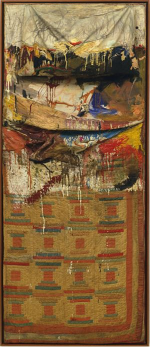 From the archives: Bed 1955, by Robert Rauschenberg.Artists, Combinations Painting, Mixed Media, 1955 Painting, Weights Loss Secret, Art History, New York Time, Robert Rauschenberg Beds, R Rauschenberg Beds 1955 Jpg