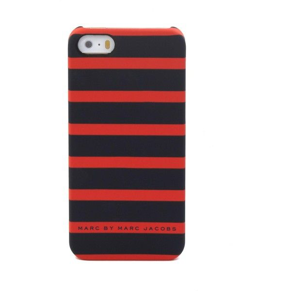 Matte Stripes Iphone 5 Case ($19) ❤ liked on Polyvore featuring men's fashion, men's accessories, men's tech accessories and bright red multi stripe