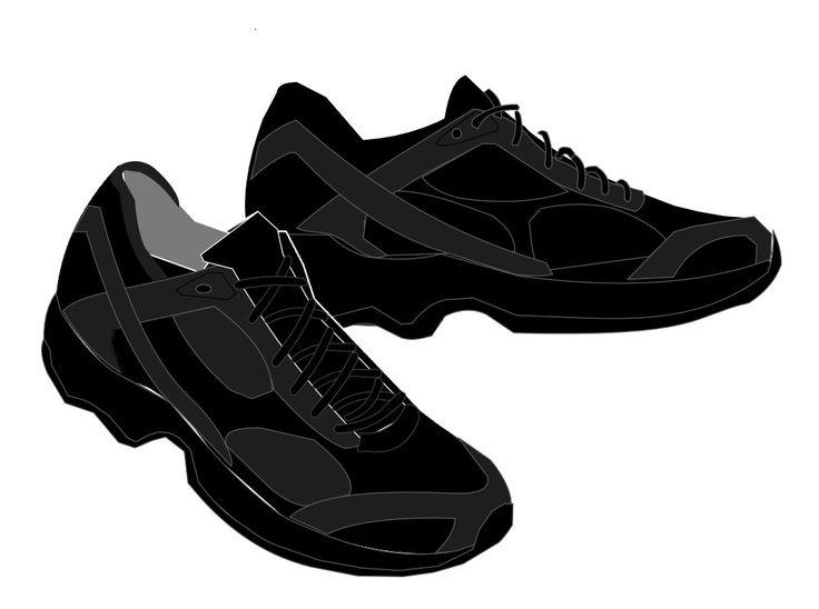 Modelo de tênis preto.