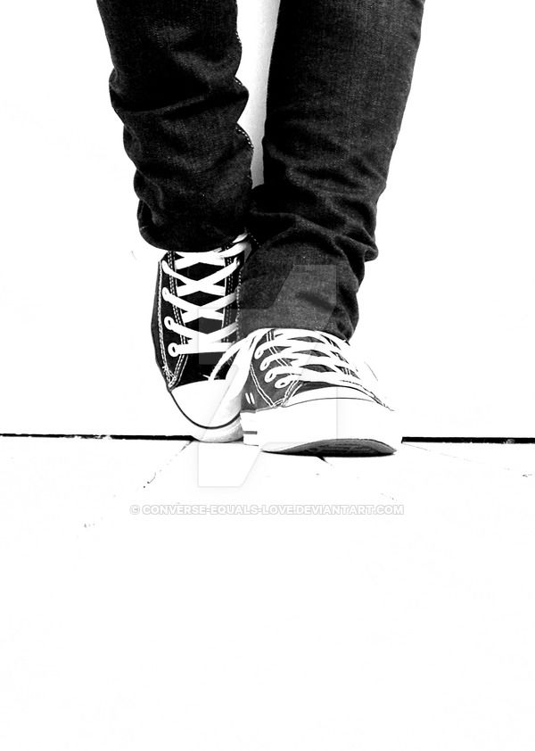Black and White by converse-equals-love