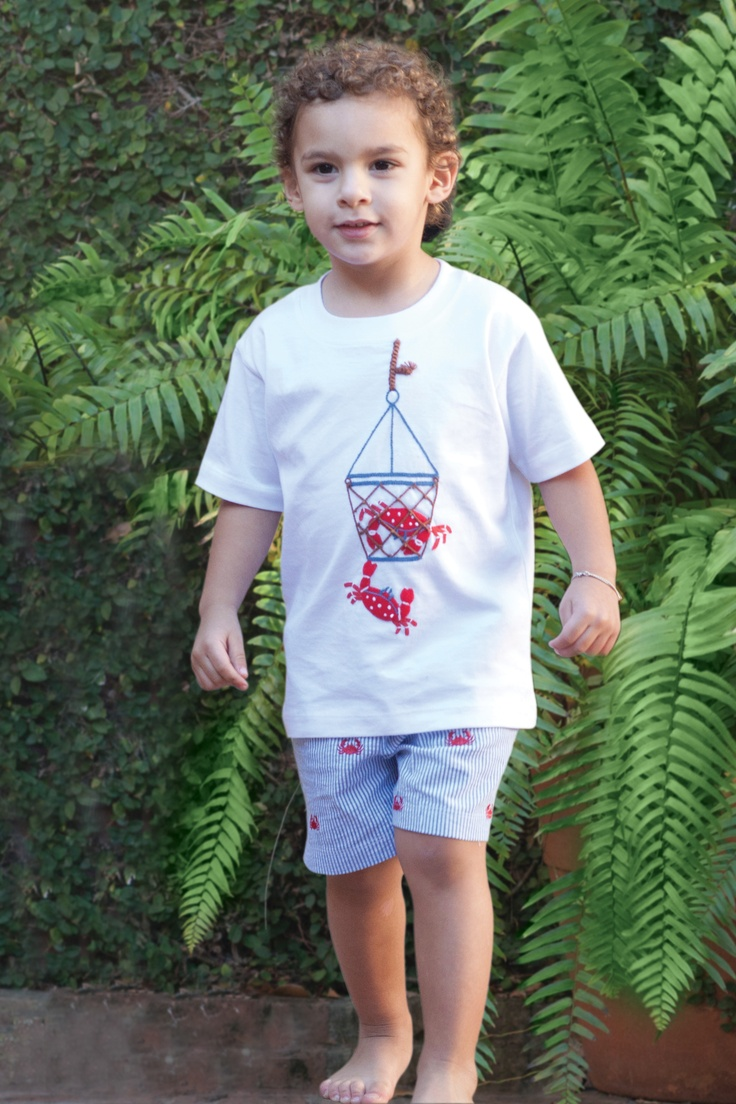 Let's go crabbing with our matching t-shirt and swim trunks!  #orientexpressed #swimtrunks #summer #swim