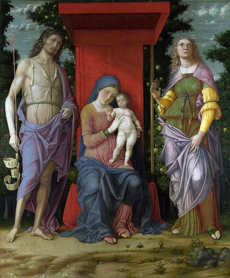 85. 1500 circa - Madonna col Bambino tra i santi Giovanni Battista e Maria Maddalena - Londra, National Gallery