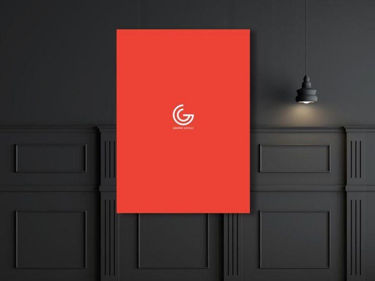Dark-styled Poster Presentation Mockup