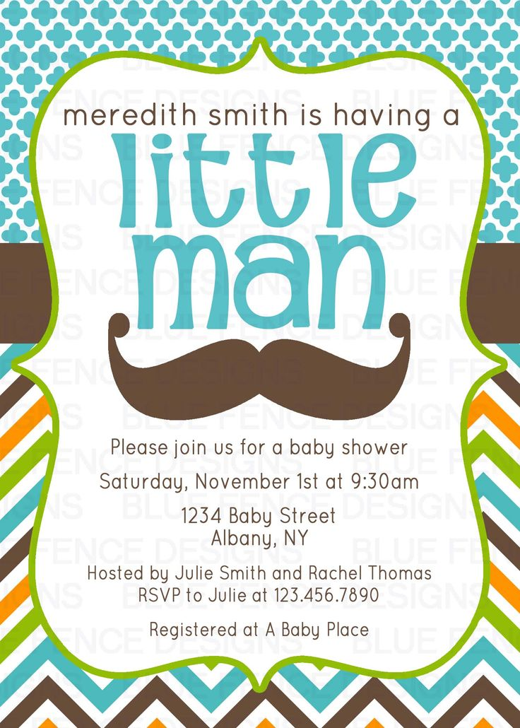 mustache baby shower invitation bluefencedesigns pinterest