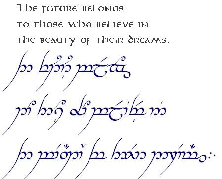 Elvish Lord Of The Rings Quotes In Lotr Elvish....