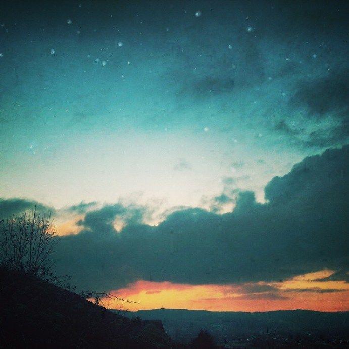 Night fall… #newtown #powys #sunset #valley #clouds #sky #town #NewtownPowys #Wales #fantasy #twilight #evening #eveningsky - LinanDara's Art-n-Folk