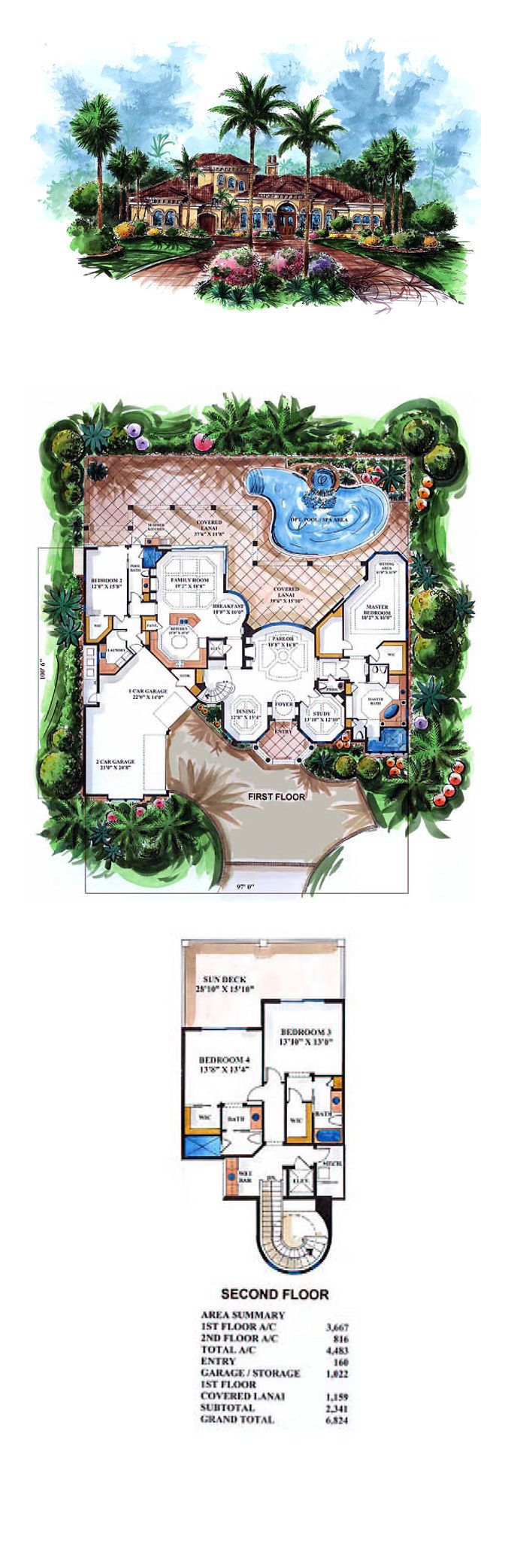 the 25 best cool house plans ideas on pinterest cool house plan id chp 23792 total living area 4483 sq