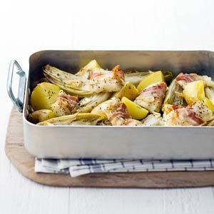 Recept - Ovenschotel met witlof en vis - Allerhande