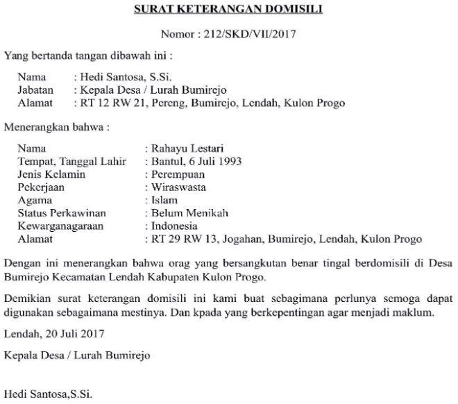 Contoh Surat Keterangan Domisili Perusahaan Dari Kelurahan Surat Pengusaha Tanggal
