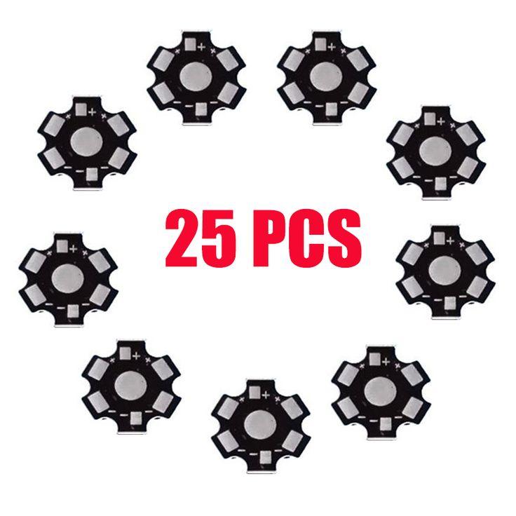 25 шт./лот 1 Вт 3 Вт led радиатора Алюминий База пластина печатной платы подложки 20 мм DIY LED Запчасти для светодиодный фонарик светодиодные лампы Spotlight купить на AliExpress