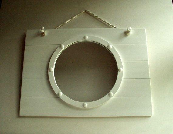 Porthole Mirror, Wall Mirror, Handmade Mirror, Reclaimed, Round Mirror, Nautical…