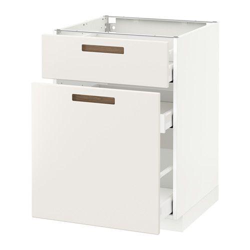 METOD / MAXIMERA Unterschrank mit Auszug/Schublade - weiß, Märsta weiß, 60x60 cm - IKEA