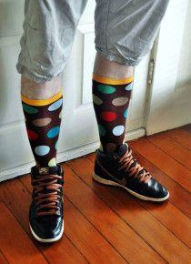 Big Sur Polka Dots Mens Socks.