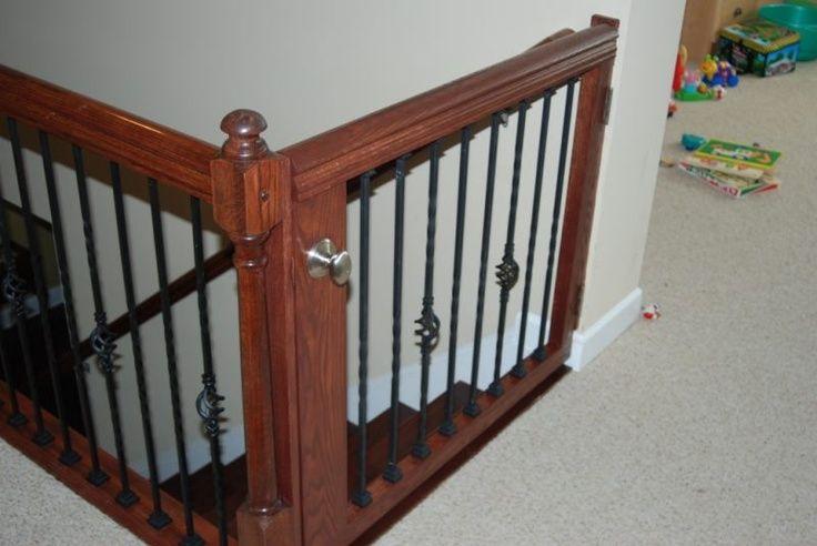 staircase gating | stair gate - homemade | Fur babies ♥ em!!!