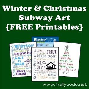 Free Winter and Christmas Subway Art