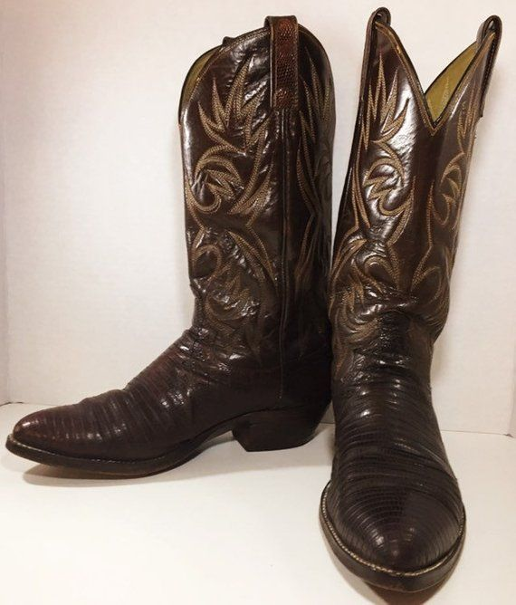 10d09a07a5c Brown Lizard Skin Dan Post Cowboy Boots soze 8 1/2 D or women's size ...