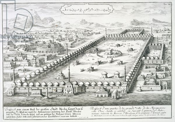 Kaaba-Kabe-View of Mecca - 1721