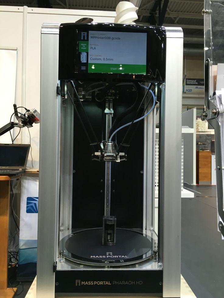 Massportal 3D-tulostin kosketusnäytöllä.