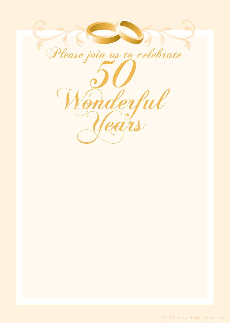 Golden wedding anniversary invitations free templates