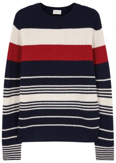 Striped wool and cashmere blend jumper - Knitwear - All Clothing - Men
