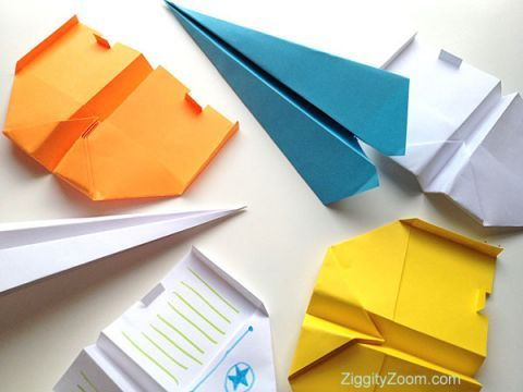 DIY paper airplanes tutorial with step by step photos ... to make the best little paper airplane glider!!