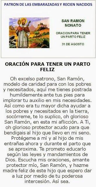 San Ramón Nonato, oracion para temer parto feliz!