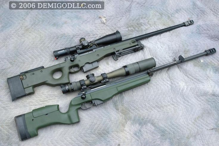Military .338 Lapua Magnum Rifles Compared, the SAKO TRG-42 and AI-AWSM