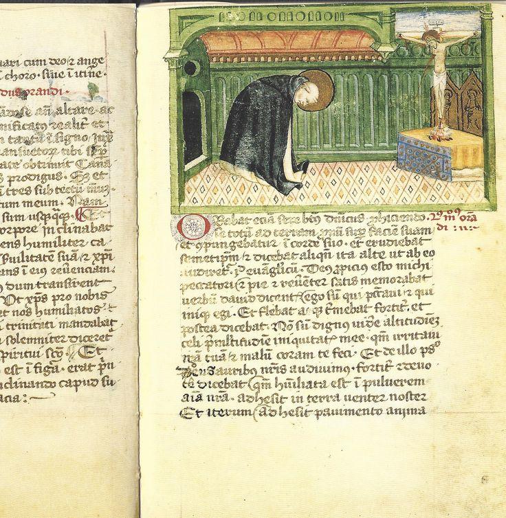 Modi Orandi Sancti Dominici, 1 : la prosternation, codex rossianus 3, 1450, bibliothèque vaticane,