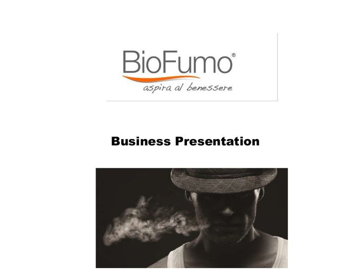 Business Presentation of BioFumo by Syed Ali via slideshare