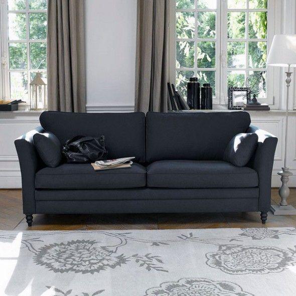 Minimalist Black Sofa Design With Neo Classic Style