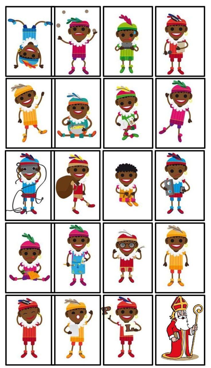 Onderwijs en zo voort ........: 1818. Sinterklaas spelletjes : Zwarte Pieten Kaartspel