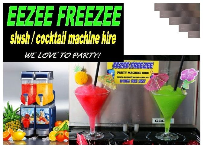 make your theme parties more exciting by ensuring to furnish your party with party machines - Slushie Machines
