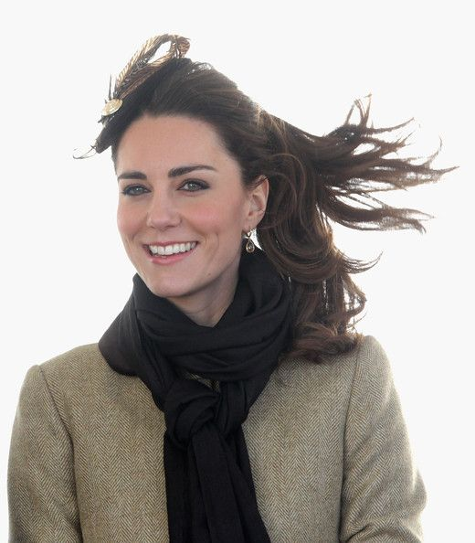 Flashback time! Kate Middleton looking windblown and gorgeous shortly after her engagement to Prince William in 2011.