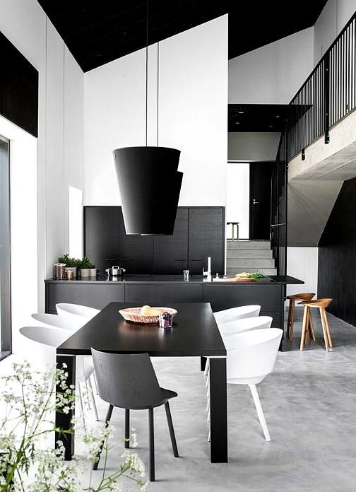 Interior minimalista en blanco y negro ideas casas for Decoracion interior minimalista
