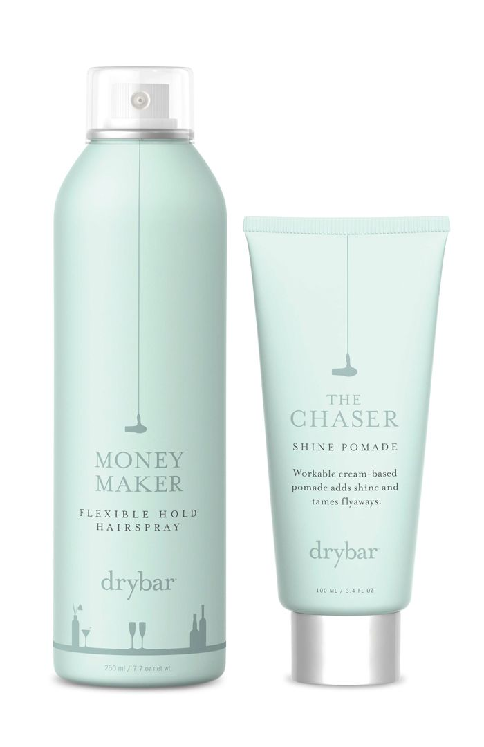 Packaging design for 'Drybar' hair care products by the Drybar Team