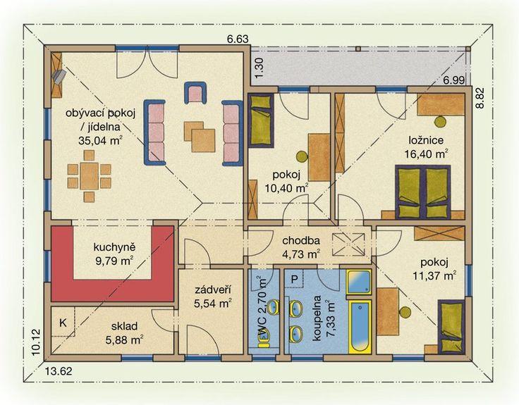 Rodinný dům Bungalov Line 109 – dřevostavba, bungalov na klíč