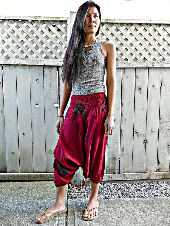 Red Colour Short Harem Pants #fashion #shopping #harempants #joggers #style #love