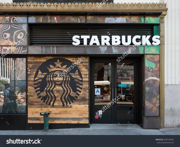New York City - May 2015: Starbucks Store. Starbucks Is The ...