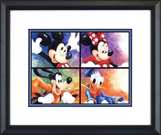 Mickey Mouse - Ready to Ride - Minnie - Goofy - Donald Duck - Michelle St. Laurent - Framed - World-Wide-Art.com - #disney #michellestlaurent #disneytreasuresoncanvas #gallerywrapped #mickeymouse #minniemouse #donaldduck #goofy #fabfive