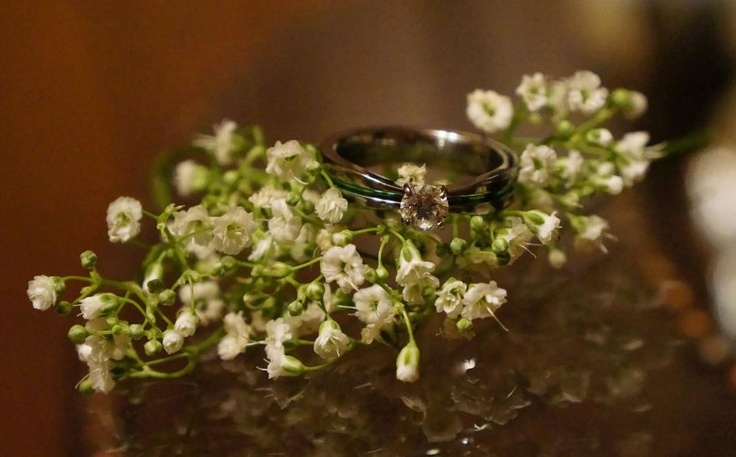 Reina took this lovely photo of her anodized titanium engagement ring. Very fresh and spring-y  ! :D