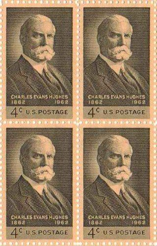 Charles Evans Hughes Set of 4 X 4 Cent Us Postage Stamps Scot #1195a by U.S. Mail. $4.50. Charles Evans Hughes Set of 4 X 4 Cent Us Postage Stamps Scot #1195a