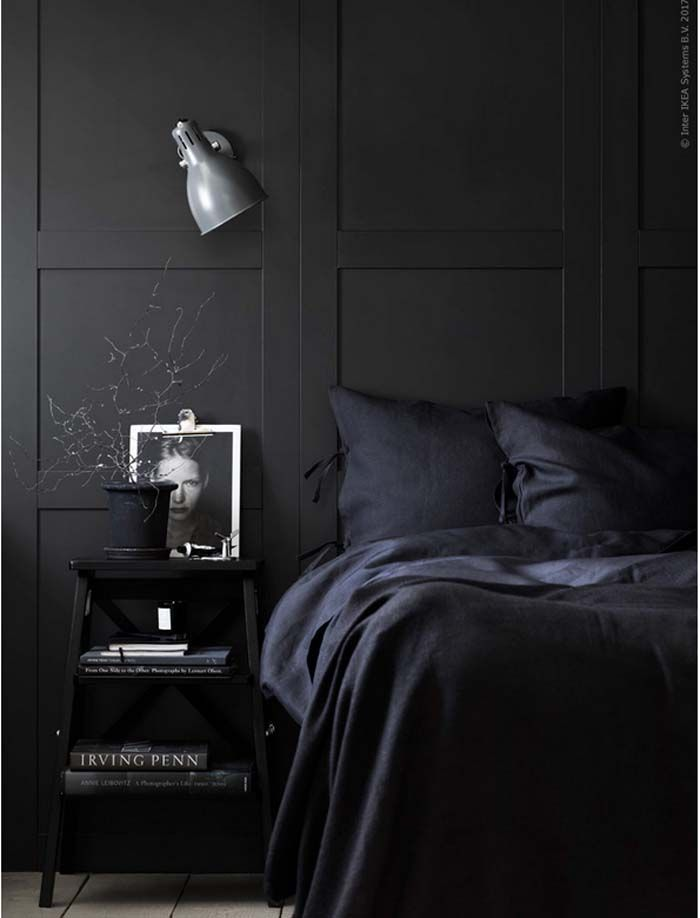 Monochrome bedrooms, toneontone paint palettes