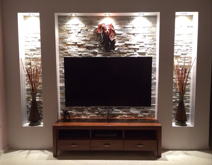 Tv wall tv wall transformation pinterest alc ve mur for Centre de divertissement du salon ikea