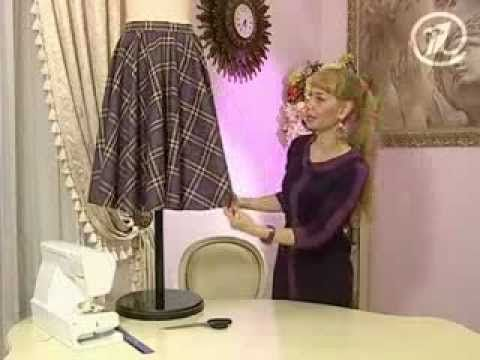 Ольга Никишичева .Сшить юбку в складку за 1 час (Sew the skirt in 1 hour) - YouTube